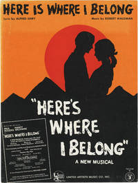 Here's Where I Belong [East of Eden] (Original sheet music for the title song from the 1968 musical)
