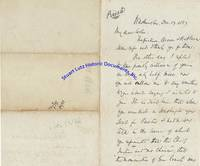 """Chief Justice Salmon Chase Writes To Financier Jay Cooke About His 1868 Presidential Aspirations: """"You Represented That 'The Chief Justice Had No Chance', That 'The Nomination Of Gen Grant Was Inevitable.'…Insist On The Nomination Of A Republican & A Civilian Of Experience & Tried Abilities; And Many Of Them Have Helpfully Forwarded My Name…"""""""