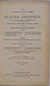 View Image 2 of 4 for THE WHOLE GENUINE WORKS OF FLAVIOUS JOSEPHUS, The Learned and Authentic Jewish Historian, and Celebr... Inventory #019572