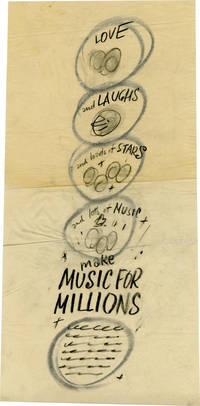 Make Music for Millions (Concept art sketch for advertisement promoting the film's original release)