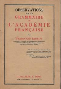 Observations sur la grammaire de l'Académie française