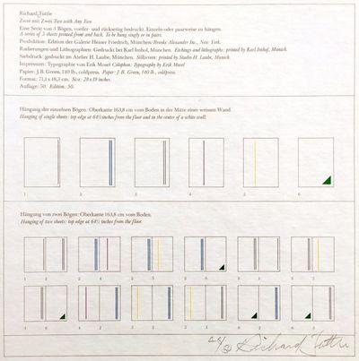München/New York (Galerie Heiner Friedrich/ Brooke Alexander Inc.), .. 3ff, printed on recto and ve...