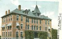 Lake View Hospital, Danville, Illinois 1908 used Postcard