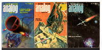 """""""A Transatlantic Tunnel, Hurrah!"""" in ANALOG Science Fiction / Science Fact - April, May and June, 1972, Volume LXXXIX, numbers 2, 3, and 4.  (set of 3 issues.)"""