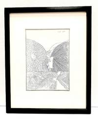 (1928-2014). Austrian artist and stage designer. Original drawing signed and dated, 1996, rendered in pen and ink on white artists' board, measures 6.1 x 8.8 inches.
