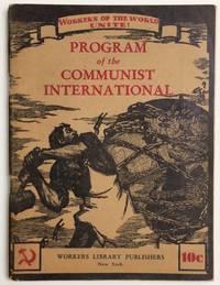 Program of the Communist International, together with the statutes of the Communist International