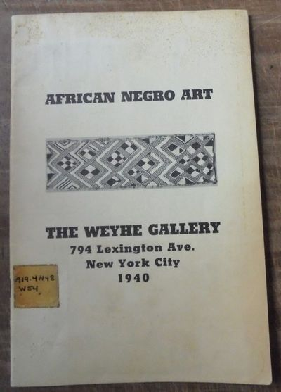 New York, New York: The Weyhe Gallery, 1940. Original (Not an e-book). Softcover. VG, better than pi...