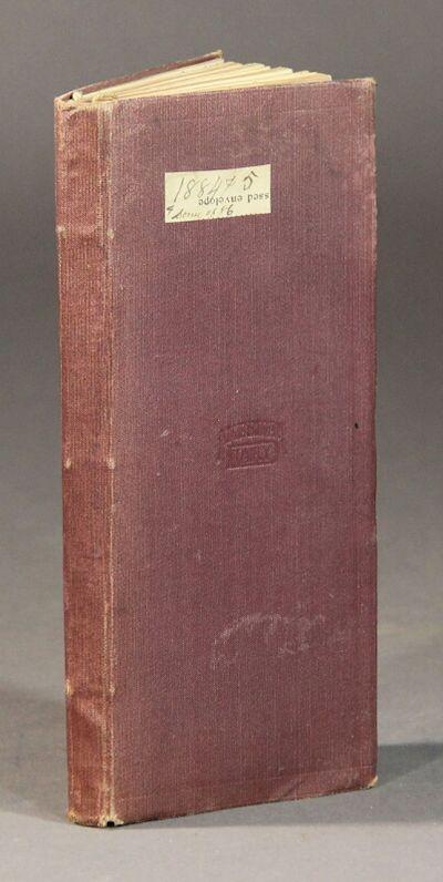 Madison, Lake County, Ohio, 1884. Pre-printed pocket book, 7¼