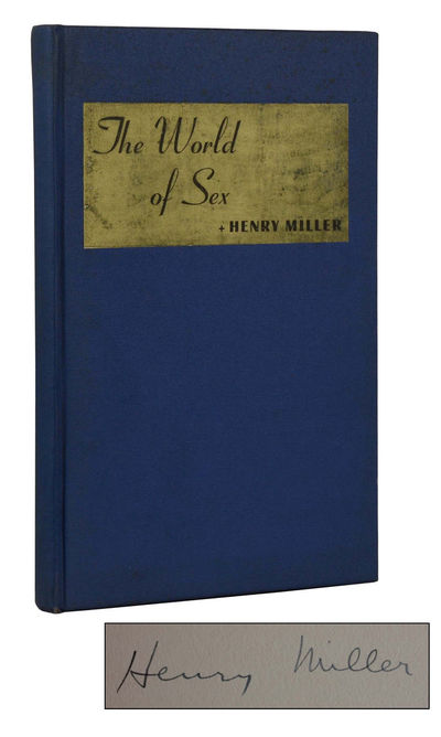 Chicago: Printed by J. H. N. for Friends of Henry Miller, 1940. First Edition. Hardcover. Very Good....