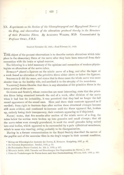 London: Royal Society of London, 1850. First Edition. Hardcover. Very Good. Also contains William Pa...