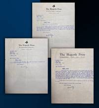 image of Three typed letters signed by Leonard Woolf as head of the Hogarth Press to Sigmund Freud's son Martin concerning the publication of Freud's last major work, Moses and Monotheism