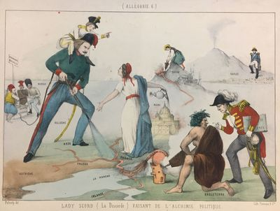 Fernique & Cie. Lithograph with original hand coloring. Image measures 8 1/4 x 11 inches. 10 1/2 x 1...