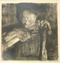 """Etching on Paper: """"Beim Dengeln."""" Signed """"Kathe Kollwitz"""" lower right in pencil"""