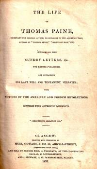 An Exposure of the Spy System Pursued in Glasgow (1832); The Trial of James Wilson for High Treason (1832); The Life of Thomas Paine (1833); Rights of Man (1833)