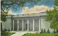 Academy of fine Arts, Elgin, Illinois 1952 used Postcard