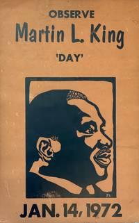 Observe Martin L. King 'Day,' Jan. 14, 1972