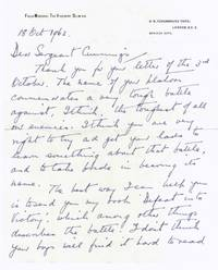image of Fine Autograph Letter signed to Sergeant Cummings (Field-Marshal Sir William, 1891-1970, K.G., Governor-General of Australia 1953-1960, from 1960 1st Viscount)