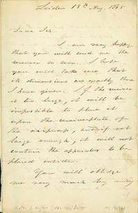 Autograph letter signed, probably to Latimer Clark