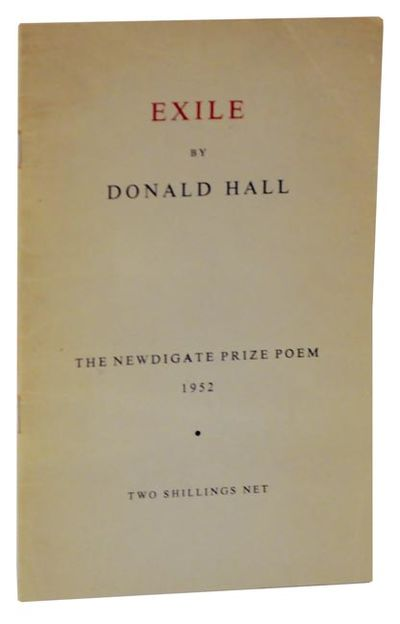Swinford, Eynsham, Oxon: Fantasy Press, 1952. First edition. Softcover. The Newdigate Prize Poem for...