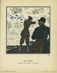 Et D'une: Costume de Chasse, De Kriegck Print from the Gazette du Bon Ton