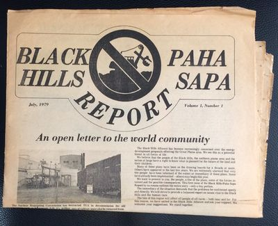 Rapid City, SD: Black Hills Alliance, 1979. 12p., tabloid format newspaper, paper evenly toned, edge...