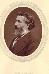 Portrait Photograph of Leighton, Head and Shoulders, in profile, oval, by Lock and Whitfield.