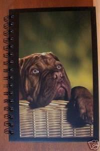 MASTIFF PUPPY IN BASKET Blank Lined Journal