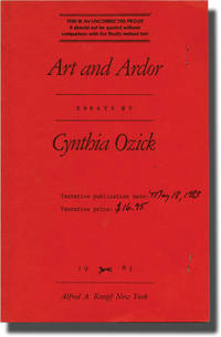 image of Art and Ardor (Uncorrected Proof)