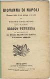View Image 2 of 2 for Giovanna di Napoli drama Lirico in un prologo e tre atti di Antonio Ghislanzoni musica del maestro E... Inventory #31713
