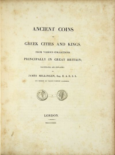 London: , 1831. First edition, 4to, pp. xi, , 77, , vii, ; 5 engraved plates of coins at the back (s...