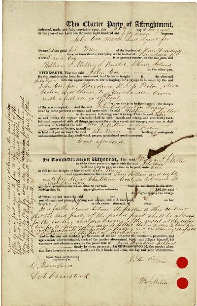 Providence: August 26, 1857. Folio pro-forma document (approx. 16