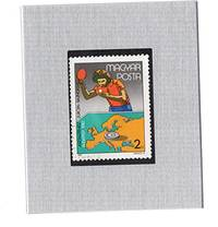 Framed Postage Stamp Mini-Art -European Table Tennis Championships 1985