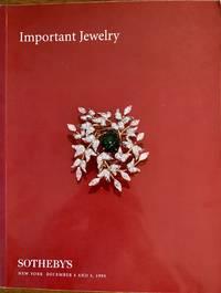 IMPORTANTJEWELRY. Sale 6787. December 4 & 5, 1995