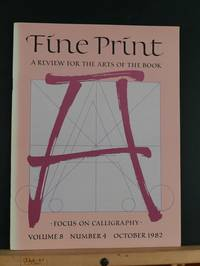 image of Fine Print: A Review for the Arts of the Book, October 1982