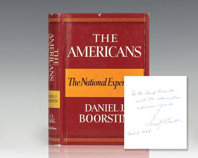 New York: Random House, 1965. First edition of Boorstin's Francis Parkman Prize-winning book. Octavo...