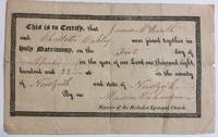 Document Signed by  Marvin (1789-1876) RICHARDSON - Signed - 1822 - from Argosy Book Store (SKU: 286019)