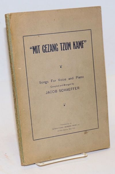 New York: International Workers Order, Inc, 1932. Paperback. 74, 16p., stiff paper wraps with cloth ...