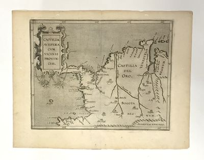 1611. Map. Copper-plate engraving. Image measures 9 x 11.5