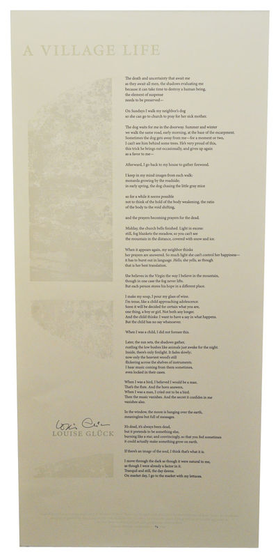 Iowa City, IA: University of Iowa Center for the Book, 2008. First edition. Broadside printed in two...
