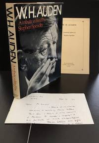 W.H. Auden A Tribute : Signed By The Author : With a H/W Letter From Spender Concerning The...