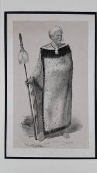 """Rangihaieta"".  Lithograph portrait of Maori chief"