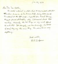 ARCHIVE of TYPED LETTER SIGNED (TLS), TWO AUTOGRAPHED LETTERS SIGNED (ALSs) and a TYPED MANUSCRIPT