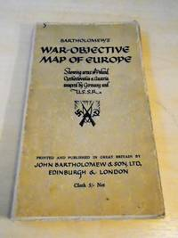 Bartholomew's War-Objective Map of Europe. Showing Areas of Poland, Czechoslovakia & Austria annexed by Germany and U.S.S.R