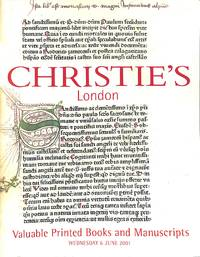 Sale 6 June 2001: Valuable Printed Books and Manuscripts. by CHRISTIE'S - LONDON - from Frits Knuf Antiquarian Books (SKU: 76752)