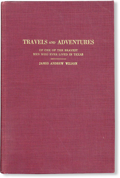 Austin: Gammel's Book Store, 1927. First Edition. Hardcover. First printing. Octavo; maroon cloth bo...