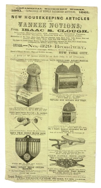 New York, 1856. 39 broadsides, labels, ads, calling cards, etc. all relating to the business venture...