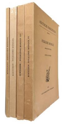 Folklore Mongol: recueilli par Rintchen. [Vols. 1-4 (of 5). 1960-1965]