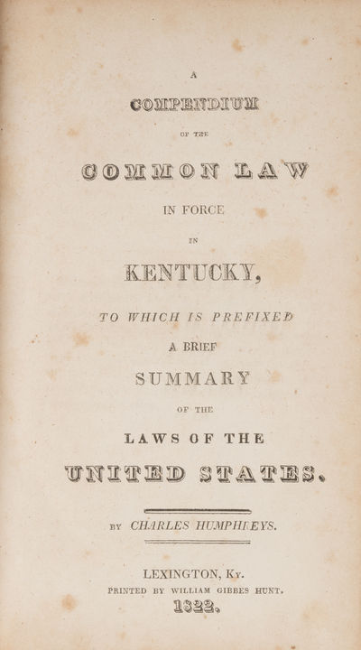 A Compendium of the Common Law in...