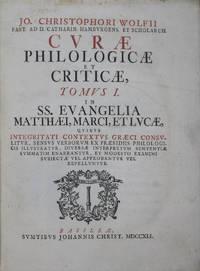 Curae philologicae et criticae, In SS. Evangelia Matthaei, Marci, et Lucae, ... (Vol. I); In Evangelium S. Johannis, et Actus Apostolicos, ... (Vol. II); In IV. Priores S. Pauli Epistolas, quibus integritati contextus Græci consulitur, ... (Vol. III); in X. posteriores S. Pauli epistolas quibus integritati contextus Graeci consulitur, sensus verborum per praesidia exegetica illustratur ... (Vol. IV); in SS. apostolorum Jacobi, Petri, Judae et Joannis epistolas huiusque Apocal.accedunt in calce quaedam ex Photii Amphilochiis adhuc non editis, cum interpretatione Latina et notis (Vol. V). 5-vol. set (Complete)