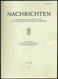 Hamburg, 1991. First edition. Paper wrappers. A fine copy.. 207 pp. 4to. Articles on Japan: Lorenz v...